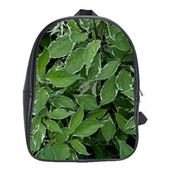 Texture Leaves Light Sun Green School Bags(large)