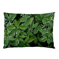 Texture Leaves Light Sun Green Pillow Case (Two Sides)