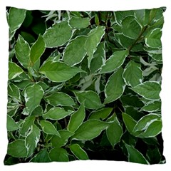 Texture Leaves Light Sun Green Large Cushion Case (one Side)