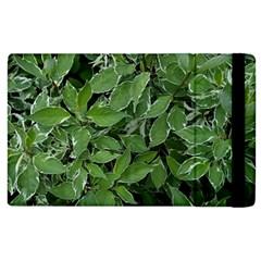 Texture Leaves Light Sun Green Apple Ipad 2 Flip Case