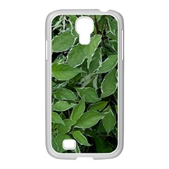 Texture Leaves Light Sun Green Samsung GALAXY S4 I9500/ I9505 Case (White)