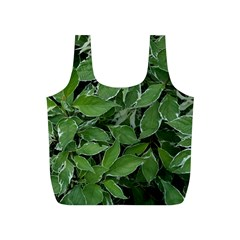 Texture Leaves Light Sun Green Full Print Recycle Bags (s)