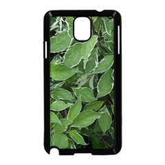 Texture Leaves Light Sun Green Samsung Galaxy Note 3 Neo Hardshell Case (Black)