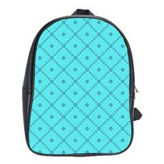 Pattern Background Texture School Bags (XL)