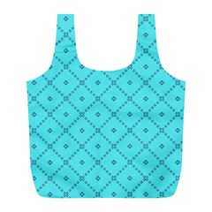 Pattern Background Texture Full Print Recycle Bags (l)