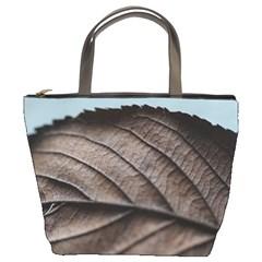 Leaf Veins Nerves Macro Closeup Bucket Bags