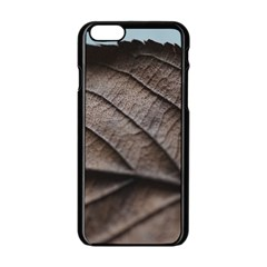 Leaf Veins Nerves Macro Closeup Apple iPhone 6/6S Black Enamel Case