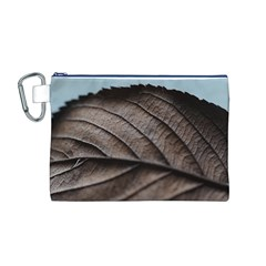 Leaf Veins Nerves Macro Closeup Canvas Cosmetic Bag (M)