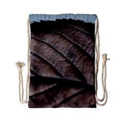 Leaf Veins Nerves Macro Closeup Drawstring Bag (Small)