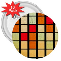 Mozaico Colors Glass Church Color 3  Buttons (10 Pack)
