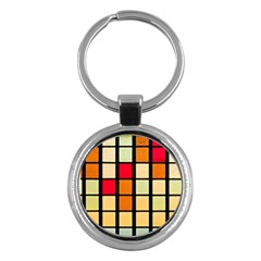 Mozaico Colors Glass Church Color Key Chains (Round)