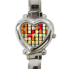 Mozaico Colors Glass Church Color Heart Italian Charm Watch