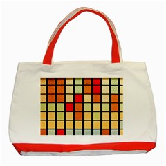 Mozaico Colors Glass Church Color Classic Tote Bag (red)