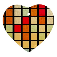 Mozaico Colors Glass Church Color Heart Ornament (two Sides)
