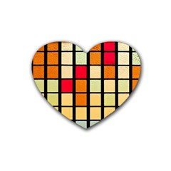 Mozaico Colors Glass Church Color Heart Coaster (4 Pack)