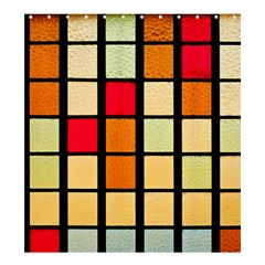 Mozaico Colors Glass Church Color Shower Curtain 66  x 72  (Large)