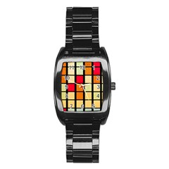 Mozaico Colors Glass Church Color Stainless Steel Barrel Watch