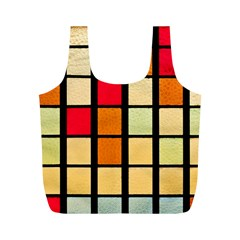 Mozaico Colors Glass Church Color Full Print Recycle Bags (m)