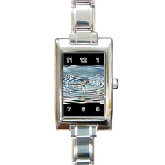 Wave Concentric Waves Circles Water Rectangle Italian Charm Watch