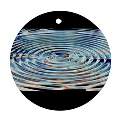 Wave Concentric Waves Circles Water Ornament (round)