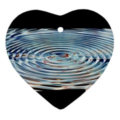 Wave Concentric Waves Circles Water Ornament (heart)