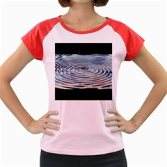 Wave Concentric Waves Circles Water Women s Cap Sleeve T Shirt