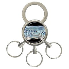 Wave Concentric Waves Circles Water 3 Ring Key Chains