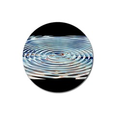 Wave Concentric Waves Circles Water Magnet 3  (Round)