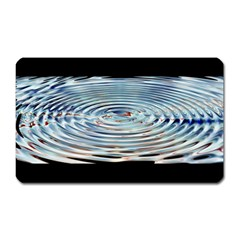 Wave Concentric Waves Circles Water Magnet (rectangular)