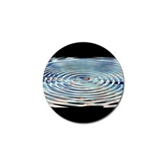 Wave Concentric Waves Circles Water Golf Ball Marker (4 pack)