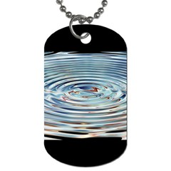 Wave Concentric Waves Circles Water Dog Tag (Two Sides)