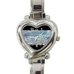 Wave Concentric Waves Circles Water Heart Italian Charm Watch