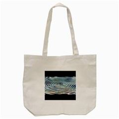 Wave Concentric Waves Circles Water Tote Bag (Cream)