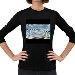 Wave Concentric Waves Circles Water Women s Long Sleeve Dark T Shirts