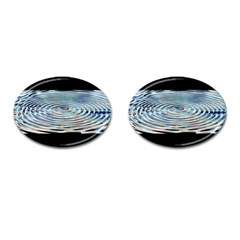 Wave Concentric Waves Circles Water Cufflinks (oval)