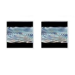 Wave Concentric Waves Circles Water Cufflinks (square)