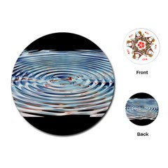 Wave Concentric Waves Circles Water Playing Cards (Round)