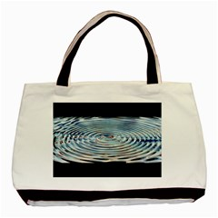 Wave Concentric Waves Circles Water Basic Tote Bag