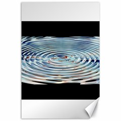 Wave Concentric Waves Circles Water Canvas 24  X 36
