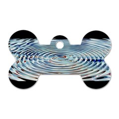 Wave Concentric Waves Circles Water Dog Tag Bone (Two Sides)