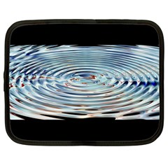 Wave Concentric Waves Circles Water Netbook Case (Large)