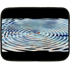 Wave Concentric Waves Circles Water Fleece Blanket (Mini)