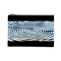 Wave Concentric Waves Circles Water Cosmetic Bag (large)