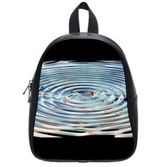Wave Concentric Waves Circles Water School Bags (small)