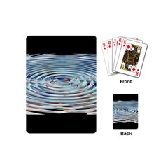 Wave Concentric Waves Circles Water Playing Cards (Mini)