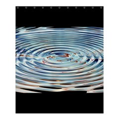 Wave Concentric Waves Circles Water Shower Curtain 60  x 72  (Medium)