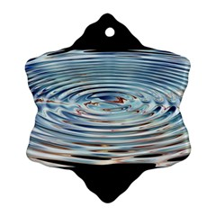Wave Concentric Waves Circles Water Ornament (snowflake)
