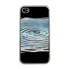 Wave Concentric Waves Circles Water Apple Iphone 4 Case (clear)