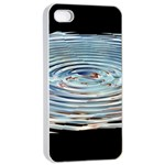 Wave Concentric Waves Circles Water Apple iPhone 4/4s Seamless Case (White) Front