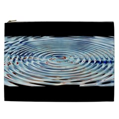 Wave Concentric Waves Circles Water Cosmetic Bag (xxl)
